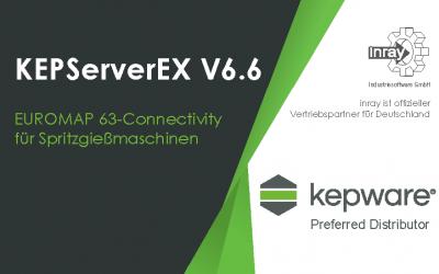 KEPServerEX® – Die neue Version 6.6. bietet EUROMAP 63-Connectivity für Spritzgießmaschinen